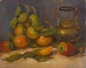 Persimmons and Teapot