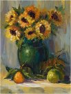 Sunflowers in the Green Vase